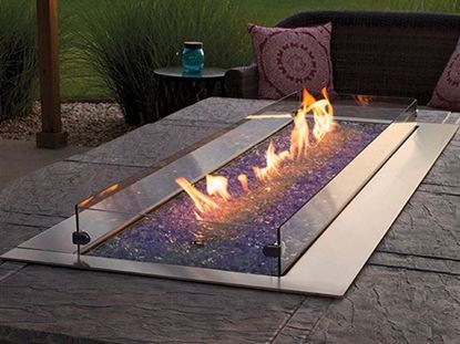 carol rose outdoor linear fire pit